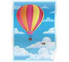 Picnic in a Balloon on a Cloud Poster