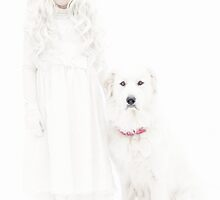 Winter Girl and Her Dog by Ryan Conners