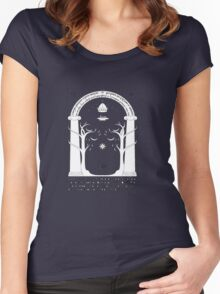 The gates of the moria Women's Fitted Scoop T-Shirt