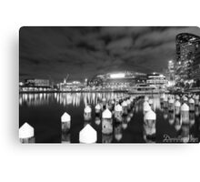 Docklands BW Canvas Print