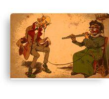Dancing Cartoon Canvas Print