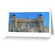 Victor Emmanuel II Monument in Rome Greeting Card