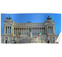 Victor Emmanuel II Monument in Rome Poster