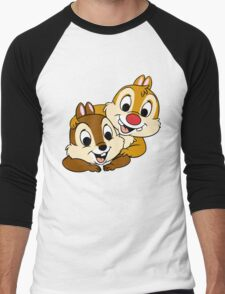Funny Chip and Dale Men's Baseball ¾ T-Shirt