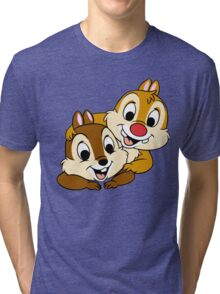 Funny Chip and Dale Tri-blend T-Shirt