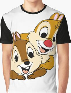 Funny Chip and Dale Graphic T-Shirt