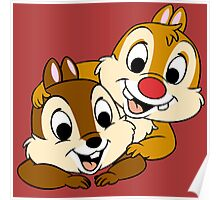 Funny Chip and Dale Poster
