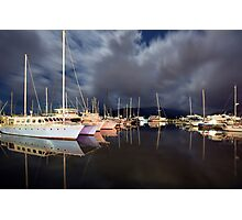 A late night at the marina... Photographic Print