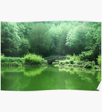 Spring Greens - landscape Poster