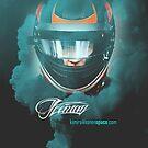 Kimi Raikkonen - iPhone Cover, Iceman Helmet by evenstarsaima