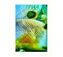 Baby Bird In Folded Wings (macro abstract) Art Print