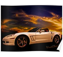 Corvette Sunset Poster