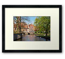 Minnewater in Brugge, Belgium Framed Print