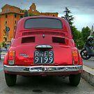 Red Fiat 500 by wildrain