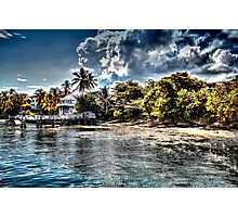 Old Beach House in Nassau, The Bahamas Photographic Print