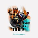 Just Leave Me Alone! iPhone Cover - Kimi Raikkonen by evenstarsaima