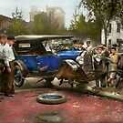 Car Accident - It came out of nowhere 1926 by Mike  Savad