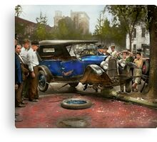 Car Accident - It came out of nowhere 1926 Canvas Print