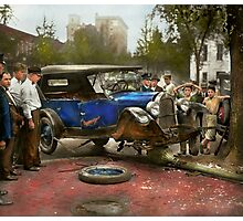 Car Accident - It came out of nowhere 1926 Photographic Print