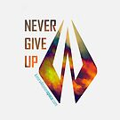 Never Give Up - iPhone Cover White - Kimi Raikkonen by evenstarsaima