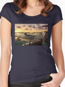 Mill Canyon Dinosaur Tracksite Leggings, Shirts, & more!! Women's Fitted Scoop T-Shirt