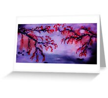 Chinese painting , Blossoms over water, watercolor Greeting Card