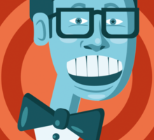 Buddy Holly wore big glasses before it was cool Sticker