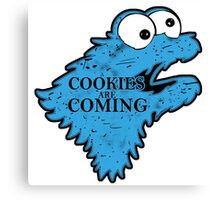 Cookies is Coming Canvas Print