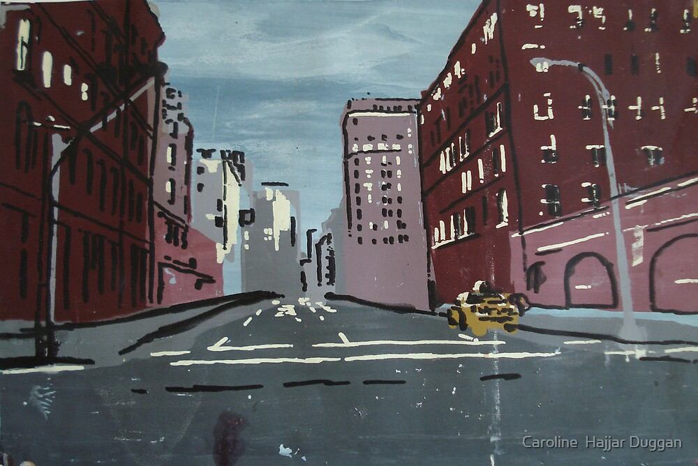 5th Avenue at 5am by Caroline  Hajjar Duggan