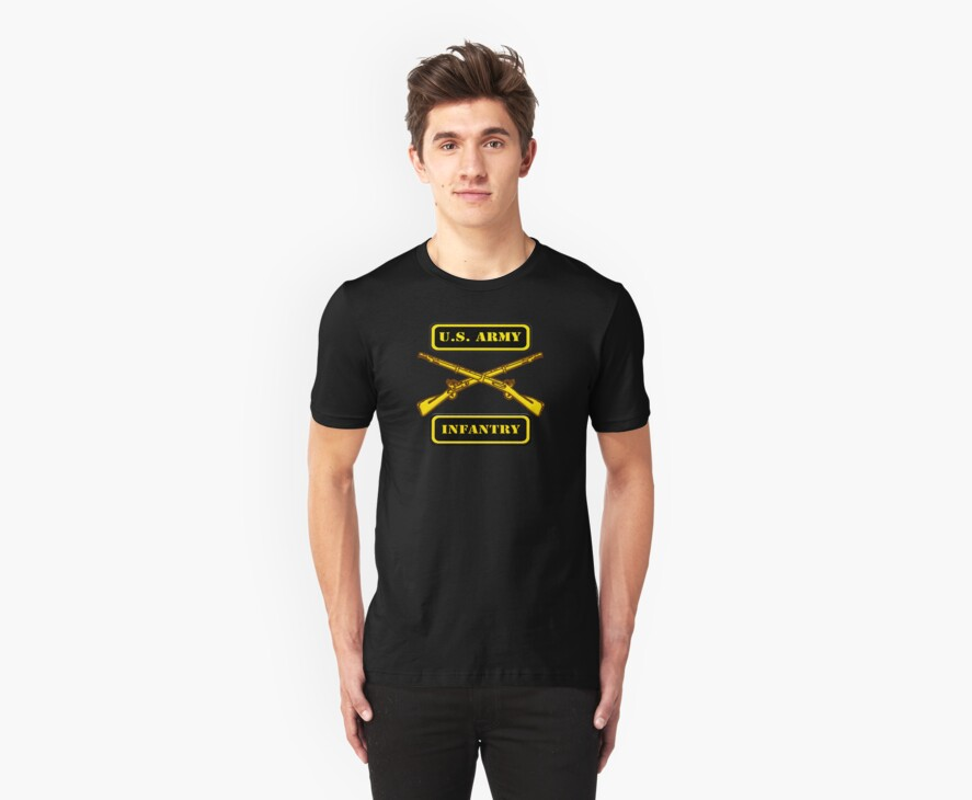Army Infantry T-Shirt by Walter Colvin