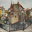 Annecy, France, Old Village, by Caroline  Hajjar Duggan