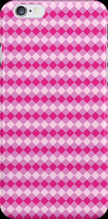 Simple Pink Argyle Pattern by SaradaBoru