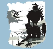 Silhouette of the Colossus white Kids Clothes