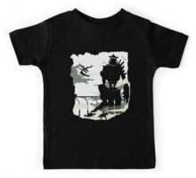 Silhouette of the Colossus white Kids Tee