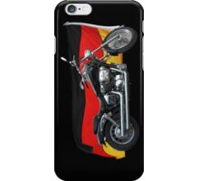 German Flag, Motorcycle Patriotic Design iPhone Case/Skin