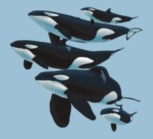 Pod of Orcas by Art-by-Aelia