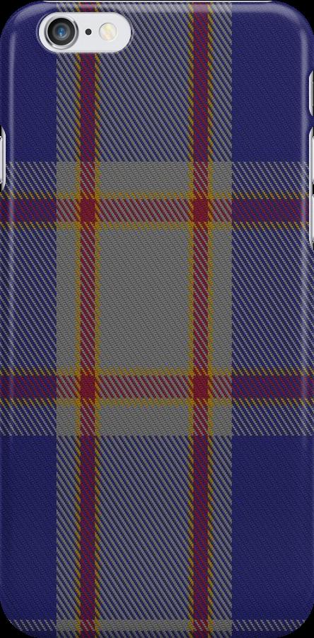 01323 US Merchant Marine Academy Tartan Fabric Print Iphone Case  by Detnecs2013