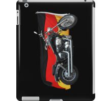 German Flag, Motorcycle Patriotic Design iPad Case/Skin