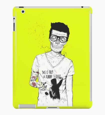 hipsters not dead iPad Case/Skin