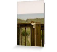 Porch Railing Greeting Card