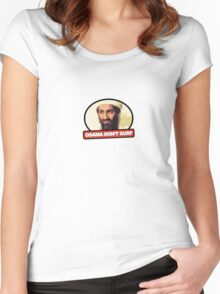 Osama Don't Surf Women's Fitted Scoop T-Shirt