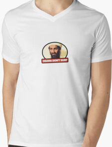 Osama Don't Surf Mens V-Neck T-Shirt
