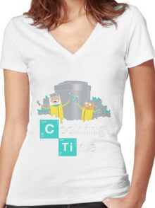Adventure Time Cooking Time Women's Fitted V-Neck T-Shirt