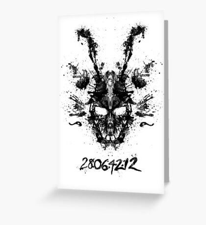 Imaginary Inkblot- Donnie Darko Shirt Greeting Card