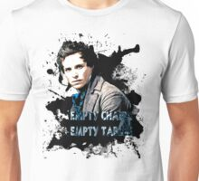 Empty chairs. Unisex T-Shirt