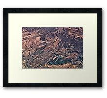 Ridges and Ravines Framed Print