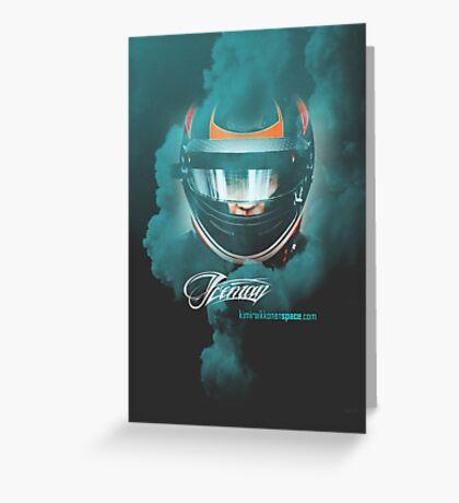 Iceman Helmet 2013 - Poster/cards - Kimi Raikkonen Greeting Card