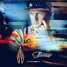 Iceman Stare - Poster/cards - Kimi Raikkonen by evenstarsaima