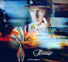 Iceman Stare - Poster/cards - Kimi Raikkonen by evenstarsaima