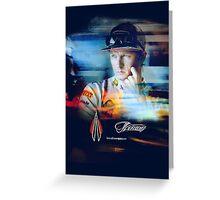 Iceman Stare - Poster/cards - Kimi Raikkonen Greeting Card